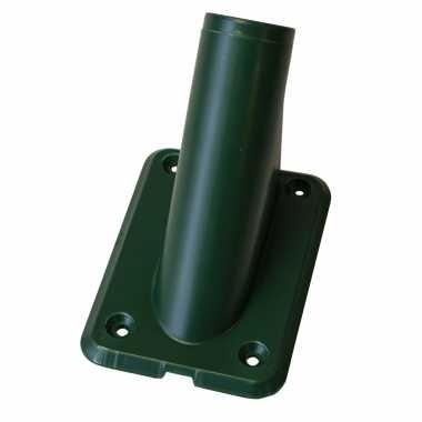 1x stuks vlaggenstokhouders vlaggenhouders groen voor vlaggen tot 32 mm