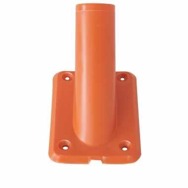 1x stuks vlaggenstokhouders vlaggenhouders oranje voor vlaggen tot 32 mm