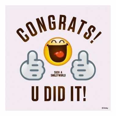 20x feest servetten emoticons geslaagd diploma behaald 33 x 33 cm