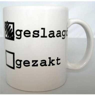 Koffiemok met grappige tekst