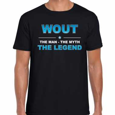 Naam wout the man, the myth the legend shirt zwart cadeau shirt