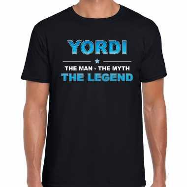 Naam yordi the man, the myth the legend shirt zwart cadeau shirt