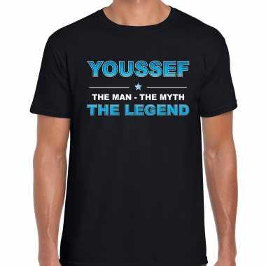 Naam youssef the man, the myth the legend shirt zwart cadeau shirt
