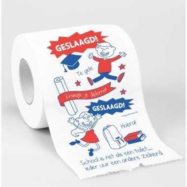 Toiletrol/wc-papier rol geslaagd cadeau feestversiering/decoratie