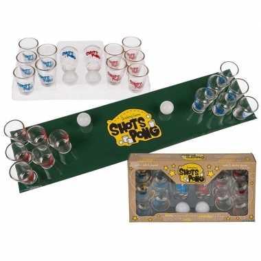 Vrijgezellenfeest drinkspelltjes shotjes pong