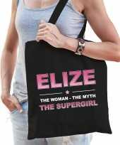Naam elize the women the myth the supergirl tasje zwart cadeau boodschappentasje