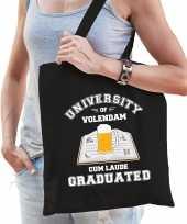 Studenten carnaval verkleed tas zwart university of volendam afgestudeerd dames